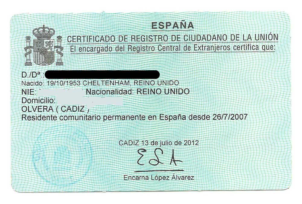 nie-nummer in valencia