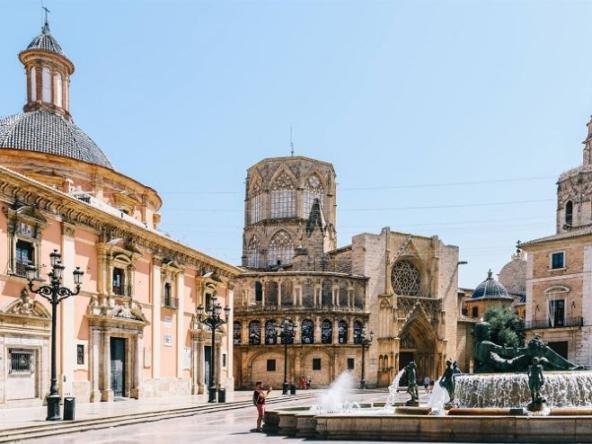 de wijk El Carmen in Valencia