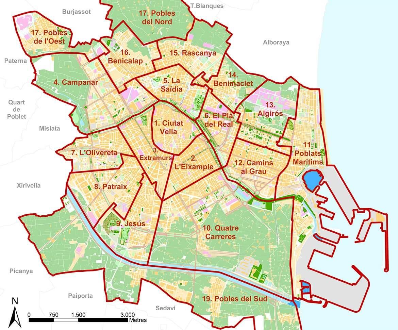 Valencia District Map